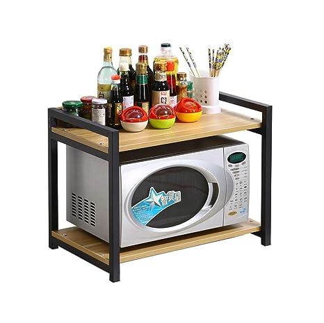 Cocina de 2 capas Estante de microondas Estante de estante ...