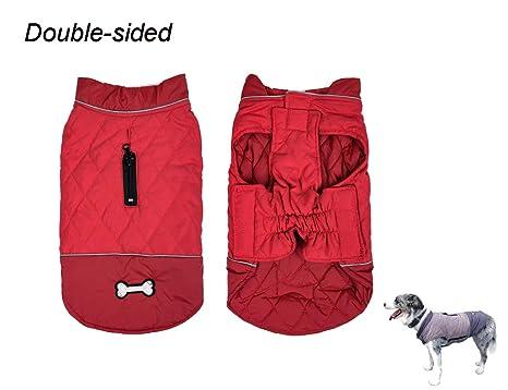 Tineer Abrigo para Perros de Doble Cara con Orificio para arnés ...