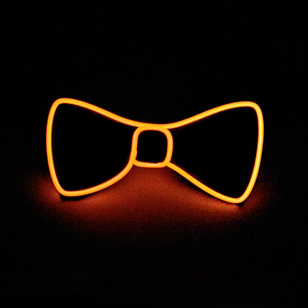 Denshine Bow Tie, Bow Ties for Men/Boys LED Light Up Bow Tie Voice-Activated Drive Bow Tie for New Years/Christmas/Halloween Party 2018 Newest Novelty Bow Ties (Orange)