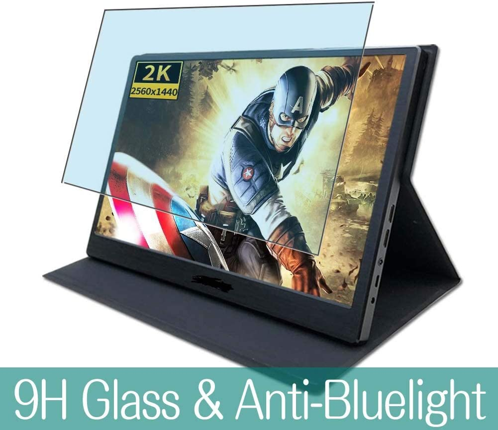 "Synvy Anti Blue Light Tempered Glass Screen Protector for JOHNWILL 13.3"" Mobile Monitor Display JP-133-2K-CNC2 Visible Area 9H Protective Screen Film Protectors"