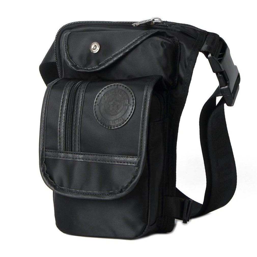 XUEERBAO New Men's Waist Fanny Pack Belt Travel Motorcycle Multi-Purpose Messenger Shoulder Bags Black Nylon material