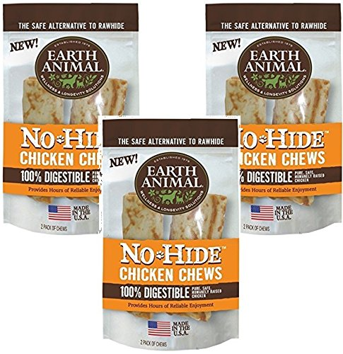 Earth Animal No-Hide Chicken Chew 7 Inches - 6 Total(3 Packs with 2 per pack) ()