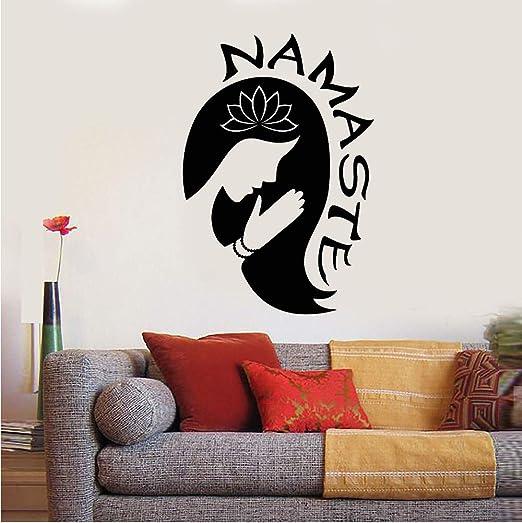 hllhpc Comhju Yoga Chica Namaste Wall Art Sticker Wallpaper Home ...