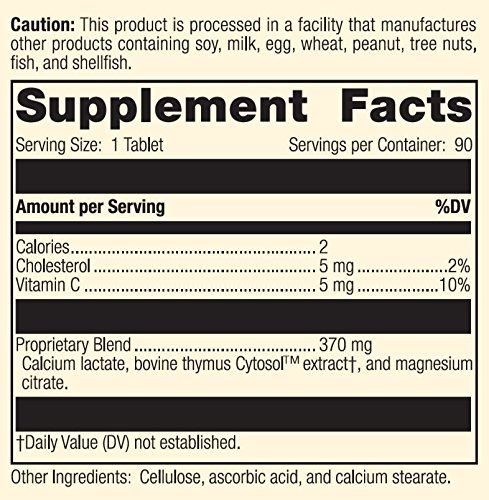 Standard Process - Thymex - Thymus Gland Support Supplement, Supports Immune System Health, Provides Antioxidant Vitamin C, Gluten Free - 90 Tablets by Standard Process (Image #4)