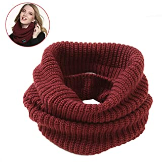 Fansport Infinity Scarf Wireless Talking Knit Scarf Circle Loop Scarves for Skiing