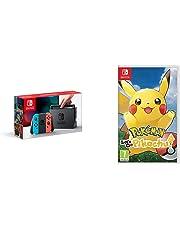 Nintendo Switch Neon with Pokemon: Let's Go! Pikachu! (Nintendo Switch)