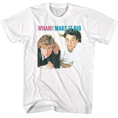 424eae6644d1 Amazon.com: American Classics Wham English Music Duo Make It Big White  Adult T-Shirt Tee: Clothing