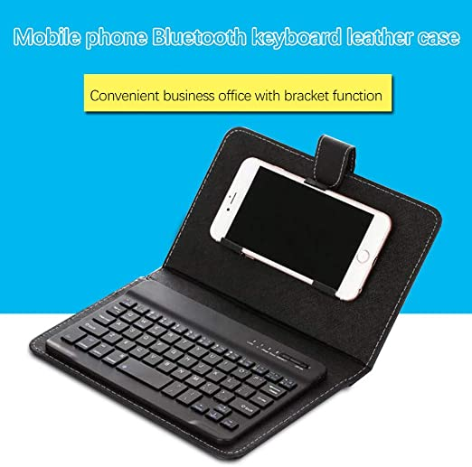 Amazon Com Nygstore 2020 New Portable Wireless Bluetooth Keyboard Case For Mobile Phone Protector Black 22514030mm Home Kitchen