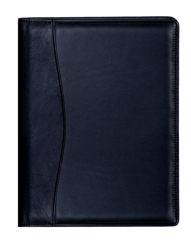 Scully Plonge Leather Ruled Journal w/ Inside Pocket (Black)