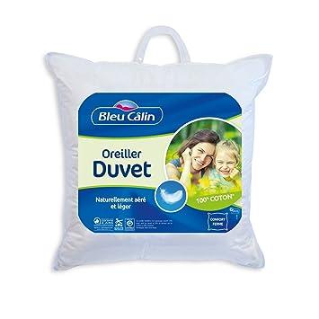 6164d312d Bleu Câlin OGND10 Oreiller Garnissage Naturel Duvet Blanc 60x60 cm ...