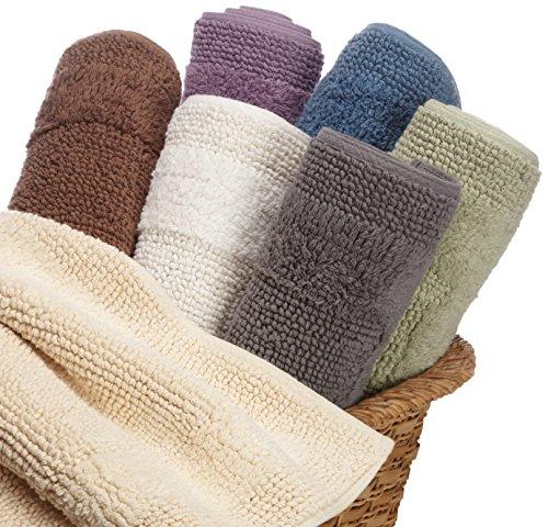Reversible Bathroom Mats: Pinzon Luxury Reversible Cotton Bath Mat