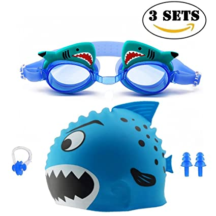 5053205a4cc Swimming Goggles Cap Kids Waterproof Child Swim Goggles With Clear Vision  Anti Fog UV Protection No