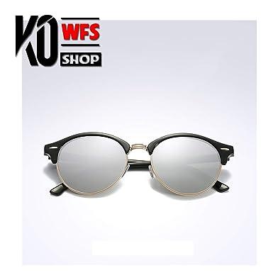 Amazon.com: KO-WFS - Gafas de sol redondas polarizadas para ...