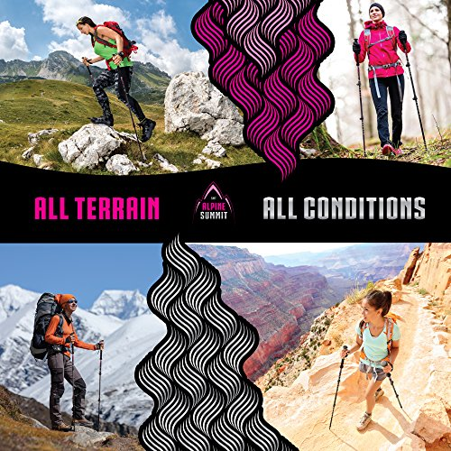 Premium Aluminum Hiking / Trekking Poles With Anti Shock Tips, Walking Sticks With Cork Grips Enjoy Pole Trekking In The Great Outdoors