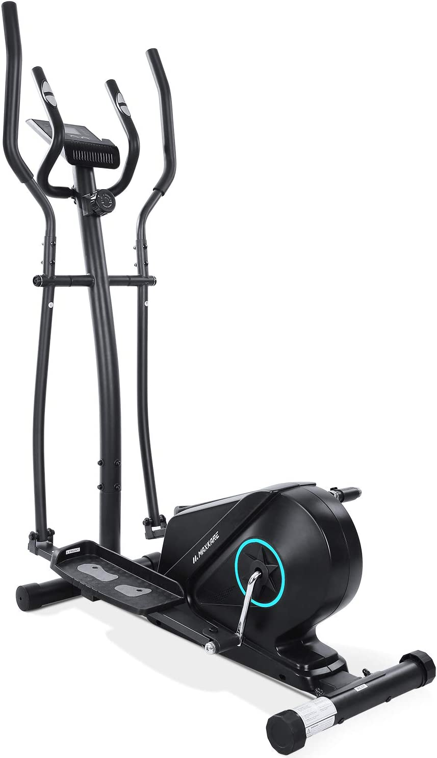 MaxKare Elliptical Machine Trainer Elliptical Exercise Machine for Home Use Life Fitness Bike with 5KG flywheel Magnetic Resistance Heavy Duty Extra-Large Pedal Pulse LCD Monitor Quiet Smooth