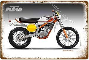 Tin Signs Metal Vintage Plaque Poster Wall Decor Retro 30X20 cm Motorcycles KTM Racing Classic Motor Racer Poster Bar Pub Garage Decoration