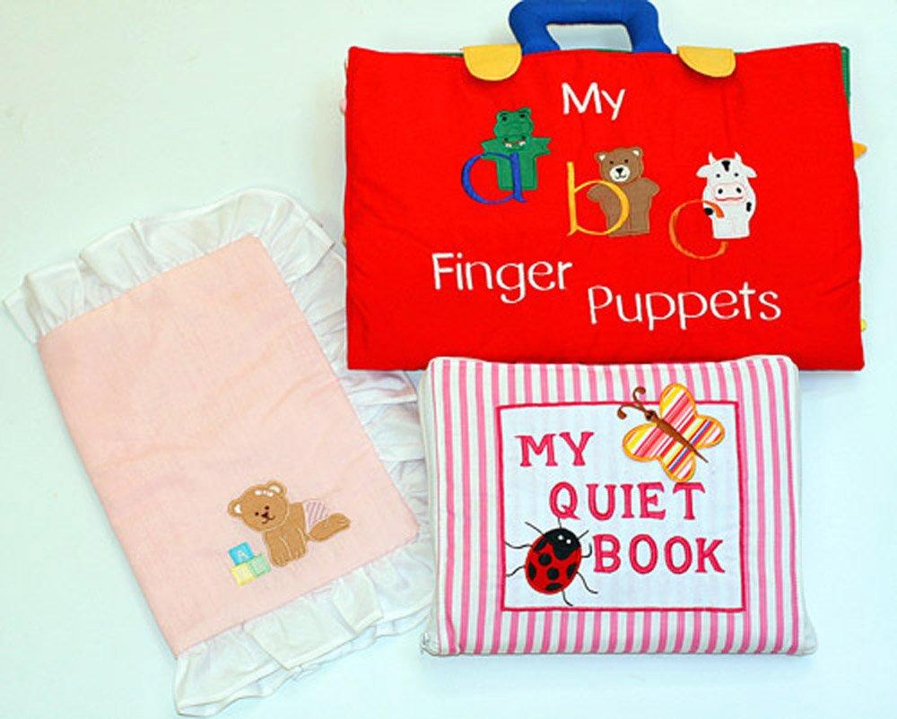 超爆安 布絵本My abc New Finger puppets&MY QUIET BOOK 布絵本My New Version ピンクストライプ QUIET おまけ付きピローケース  プレイ&ラーンギフトセット B013OUZ4KI, EAIM:3d96d238 --- a0267596.xsph.ru