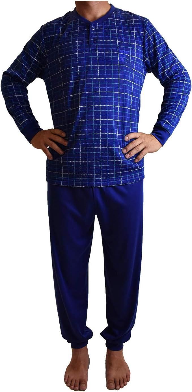 Mini kitten - Pijama de Hombre con Felpa de Algodón, Conjuntos Pijama Largo Calido para el Invierno, Camiseta con puño y Pantalones con puño.: Amazon.es: Ropa y accesorios