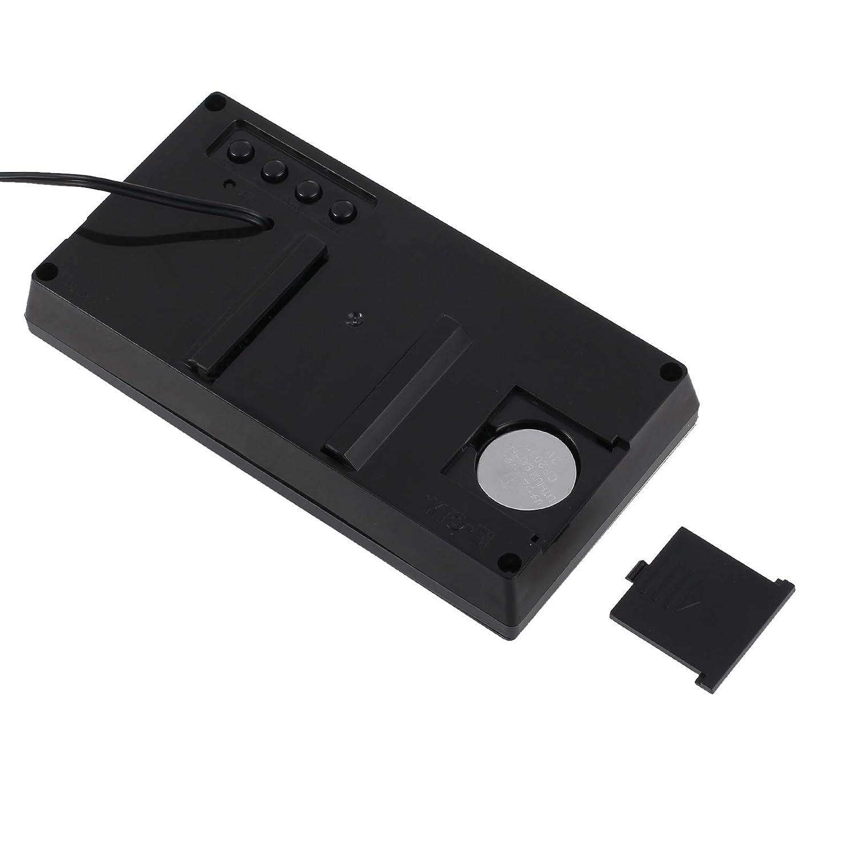AMTOVL 12V Termometro Igrometro con LCD Display per Auto Orologio Digitale con Allarme Previsioni Meteo F//C Tensione Temperatura umidit/à Calendario Orario