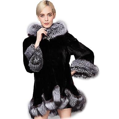 3ad5898b779e40 Amazon   [ズーリーナ] Zoolynaa レディース フェイクファーコート こもこもフード付き 上品 暖かい 大きいサイズ対応   コート・ジャケット  通販