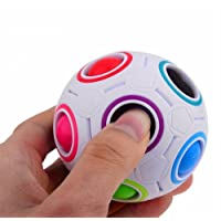 2017 Pop Rainbow Magic Ball Plastic Cube Twist For Children's Educational Toy Teenagers Adult Stress Reliever,Malloom