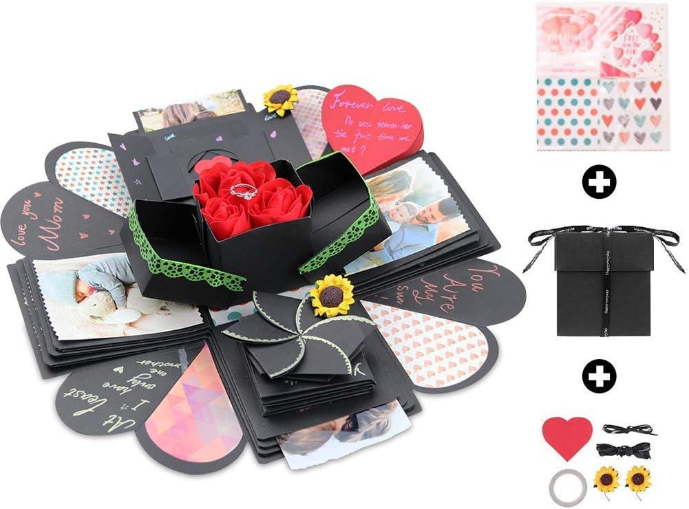 Amycute Explosion Box,caja sorpresa creativa DIY Scrapbook hecho a mano, regalo DIY de la madre, álbum de fotos de recuerdo, regalo de cumpleaños