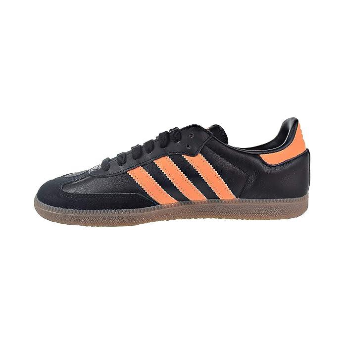 adidas Samba Og Herren Schuhe Schwarz mit Orangen Streifen