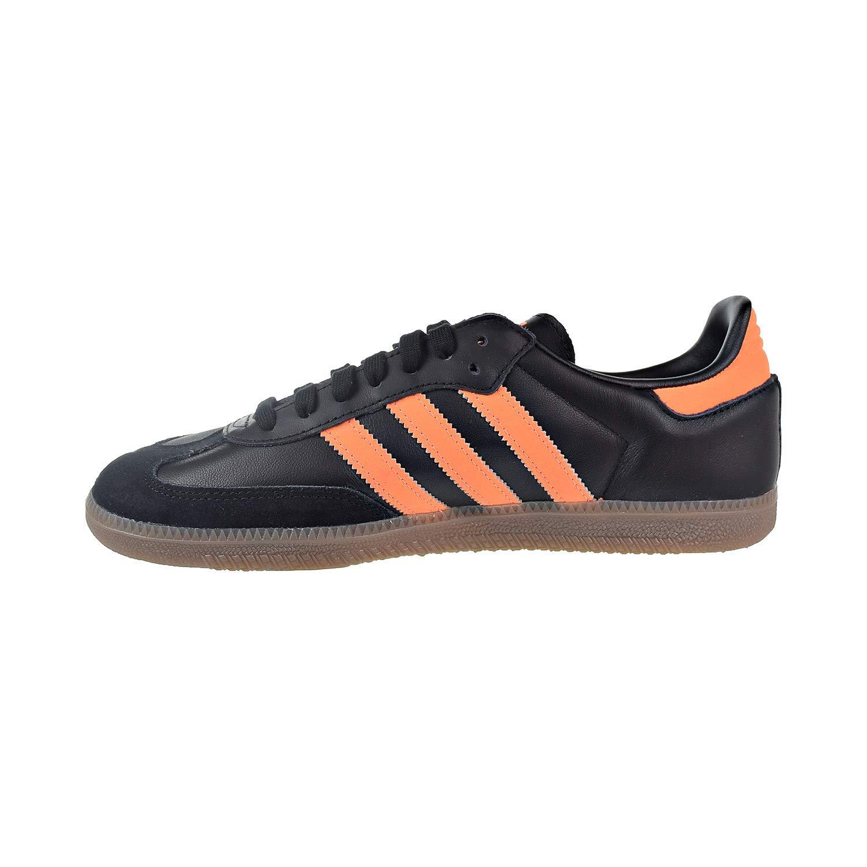 Adidas Mens Samba Leather Black Orange