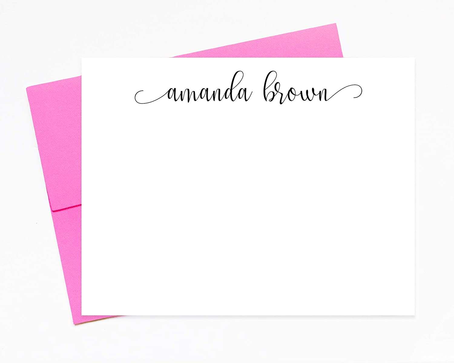 Personalized Calligraphy Stationary, Custom Thank you Note Card with Envelopes, Personalized Stationery Set