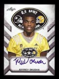 JEFFREY OKUDAH OHIO STATE BUCKEYES 2017 LEAF U.S. ARMY HIGH SCHOOL TOUR ALL-AMERICAN AUTOGRAPHED ROOKIE CARD!