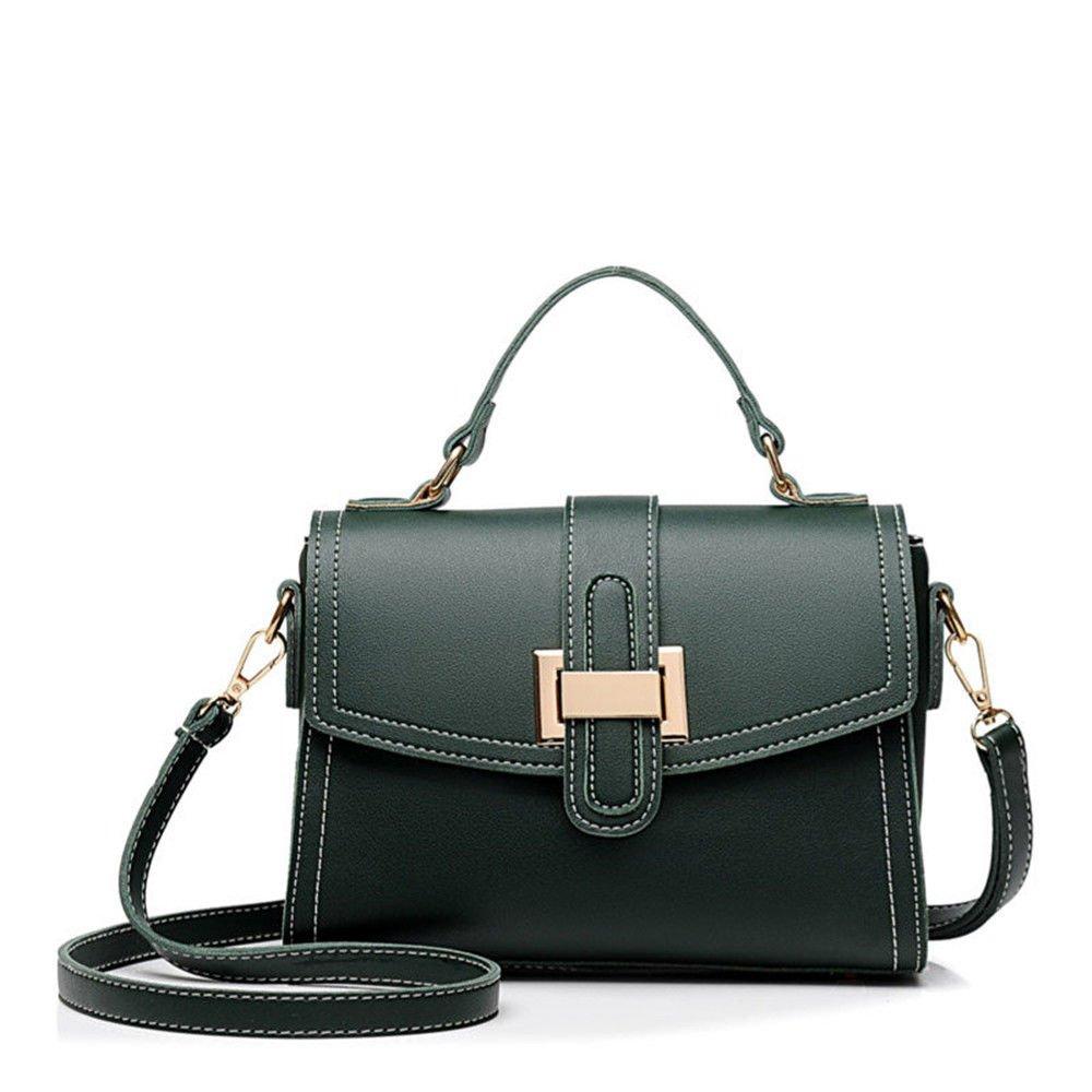 New Slant Bag Woman Bag With Single Shoulder Handbag,Green,23X18X9Cm