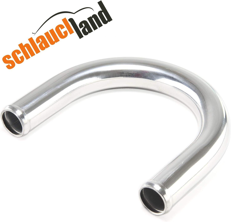 Schlauchland Alu-Bogen 180/° AD 16mm ***** Alubogen Alurohr Rohrbogen Aluminum Pipe Turbo Ladeluftk/ühler