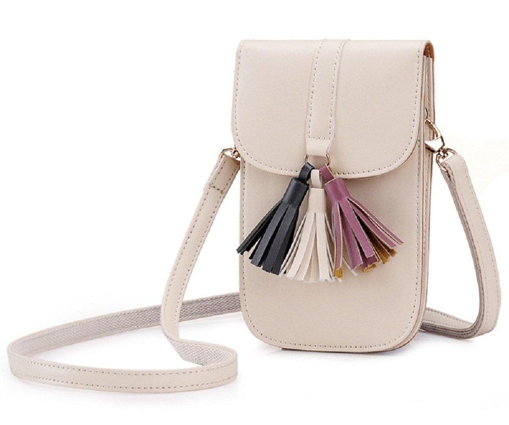 iPhone 6 6S Plus Wallet Case, UrmissTassel PU Faux Leather Cross Body Bag Womens Purse Ladies Handbags