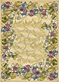A2Z Rug Indoor/Outdoor Cream 8' x 11' 4 - Feet Marbella Collection Area rugs - Perfect for Outdoor Area's & Indoor