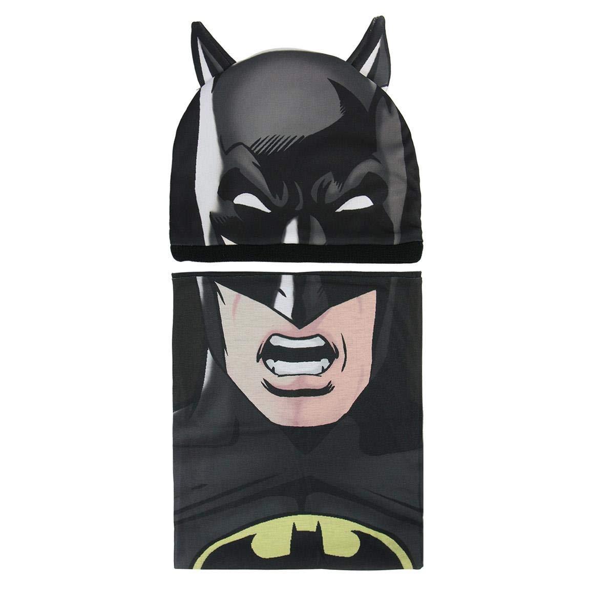 Cerdá Boy's Conjunto 2 Piezas Batman Scarf, Hat and Glove Set, Black (Negro 001), One Size (Manufacturer Size: Única) 2200003296