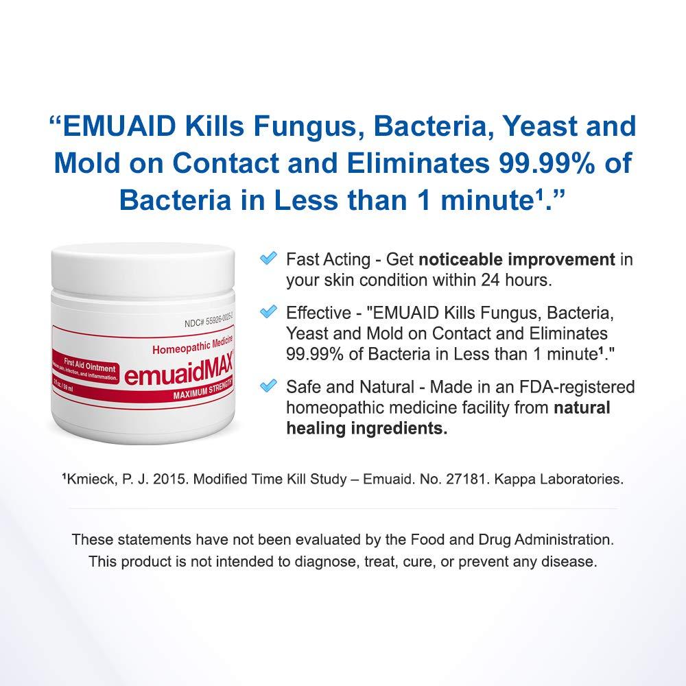 EmuaidMAX® Ointment - Antifungal, Eczema Cream  Maximum Strength Treatment   Use Max