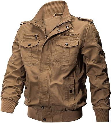 MEIbax Tooling Cotton Casual Abrigo De Manga Larga para Hombres Botón Cazadora Abrigo de Invierno Caliente Chaqueta Capa Gruesa de Cremallera Ropa Militar Tactical Cazadora Outwear: Amazon.es: Ropa y accesorios