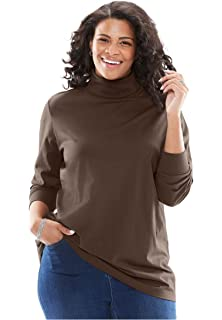3af5453dfbd Jessica London Women s Plus Size Turtleneck Sweater with Ribbing at ...