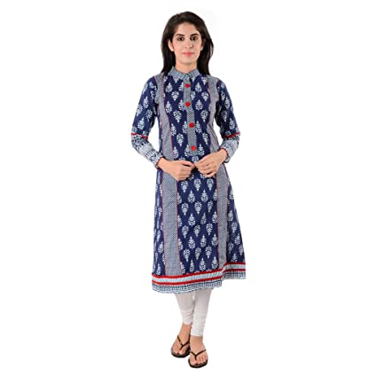 Divena Women's Cotton Kurta Women's Kurtas & Kurtis at amazon