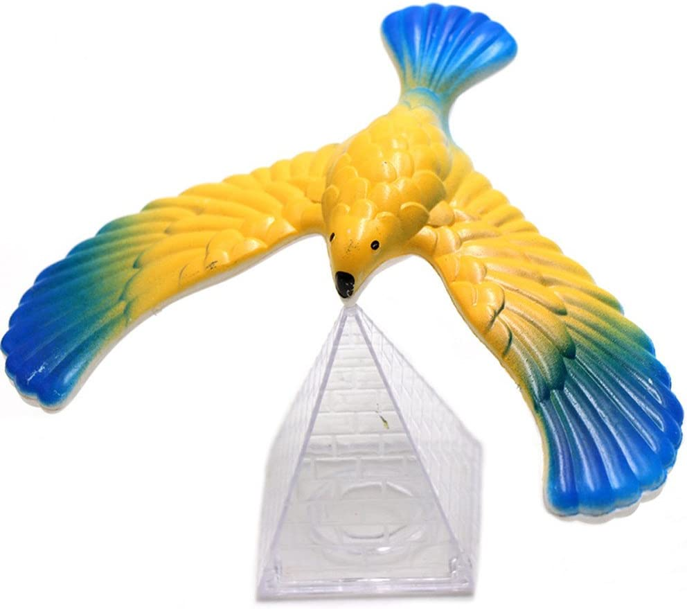 4pcs Magic Balancing Bird Science Desk Toy Novelty Eagle Trick Color Random