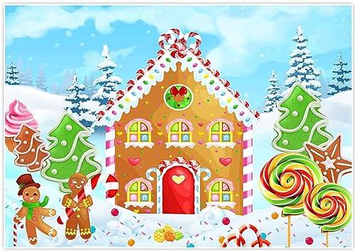 Amazon Com Allenjoy 7x5ft Gingerbread House Backdrop Cookie