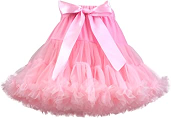 Girls Fluffy Tulle Pleated Tutu Skirt Princess Ballet Dance Pettiskirt Tiered