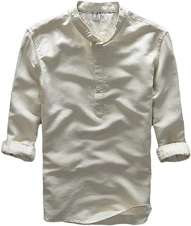 ICEGREY - Camiseta - cuello mao - manga 3/4 - para hombre ...