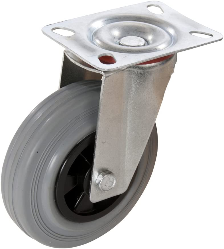 125 mm, 100 kg FIXMAN 563351 Rueda giratoria de Goma