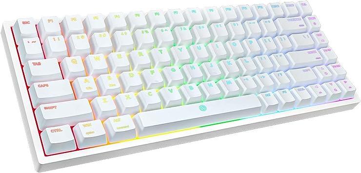 DREVO Gramr V2 TE Teclado mecánico para Juegos Interruptor Marrón con retroiluminación RGB de 84 Teclas 75% TKL Teclado alámbrico USB US Layout