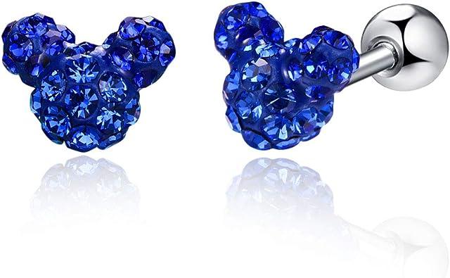 Stud Earrings CZ Cubic Zirconia Hypoallergenic 18K Gold Plating Crystal Simple Piercing Christmas Earrings For Women Girls
