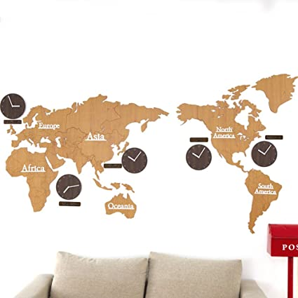Amazon 220x115cm diy medium world map clock personalized 220x115cm diy medium world map clock personalized office wall clock living room mute table gumiabroncs Image collections