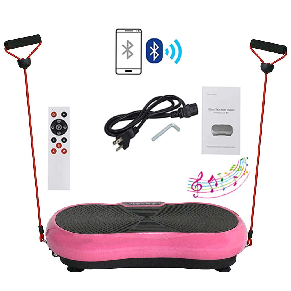 HomGarden Vibration Platform Fitness Vibration Plates Workout Massage Machine, Full Body Crazy Exercise Fit Equipment for Weight Loss w/Bluetooth by HomGarden (Image #1)