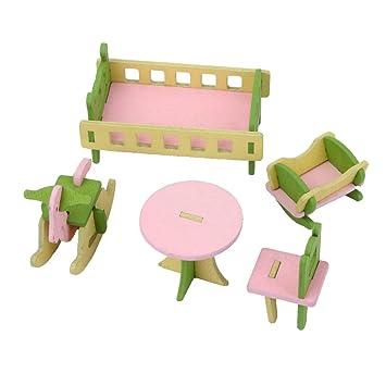 Amazon.es: Casa de Muñecas en Minitura Conjunto de Muebles Sala de ...