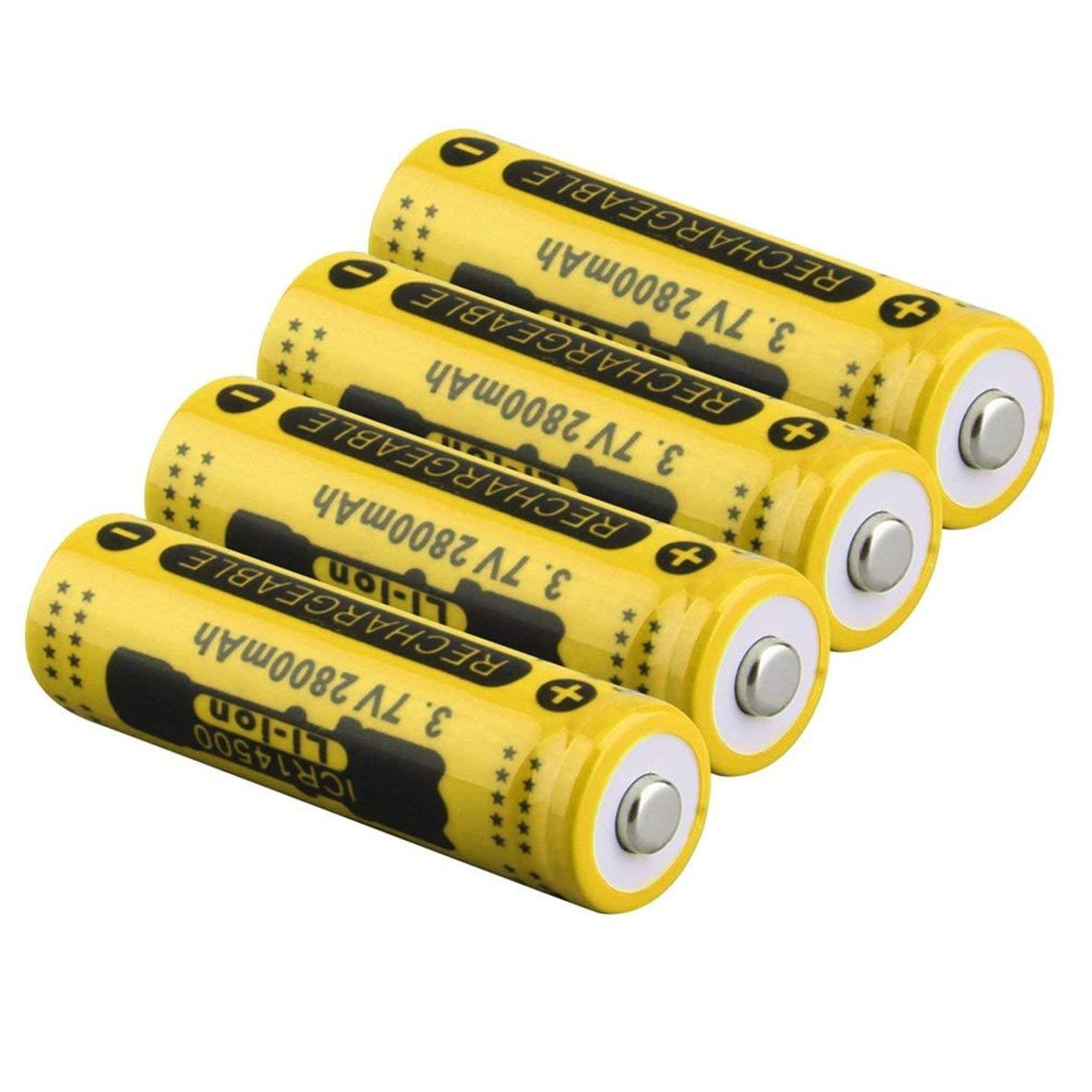 3.7V 2800mAh 14500 Batterie große Kapazität Li-Ion Akku Ersatz für Taschenlampe Batterie Moliies